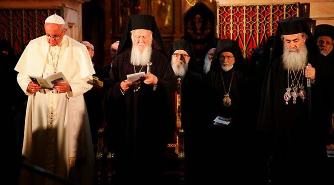 Папа Франциск говорил о Всеправославном соборе 2016 г., и о том, чтобы сделать что-то с датой Пасхи, которую православные и католики отмечают в разное время