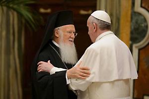 Вартоломей I и папа се срещат в Йерусалим