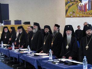 Митр. Иларион (крайний справа) на IV Всеправославном предсоборном совещании. 6-13 июня 2009 г. в Шамбези.