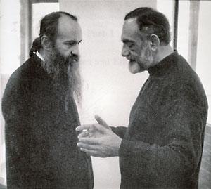 Митр. Иерофей (Влахос) и Иоанн Романидис в Ванкувере, 1995 г.