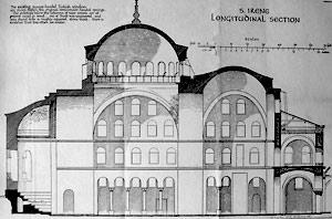 Храм Святой Ирины. План из книги ван Миллингена, 1912 г.