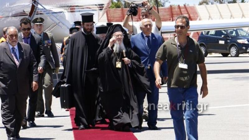 Патриарх Варфоломей на Крите. Аэропорт Ханья. 15 июня.